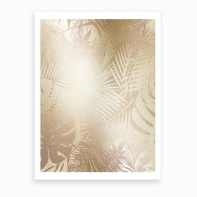 Gold On Gold Leaves Art Print