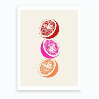 Pink Oranges Art Print