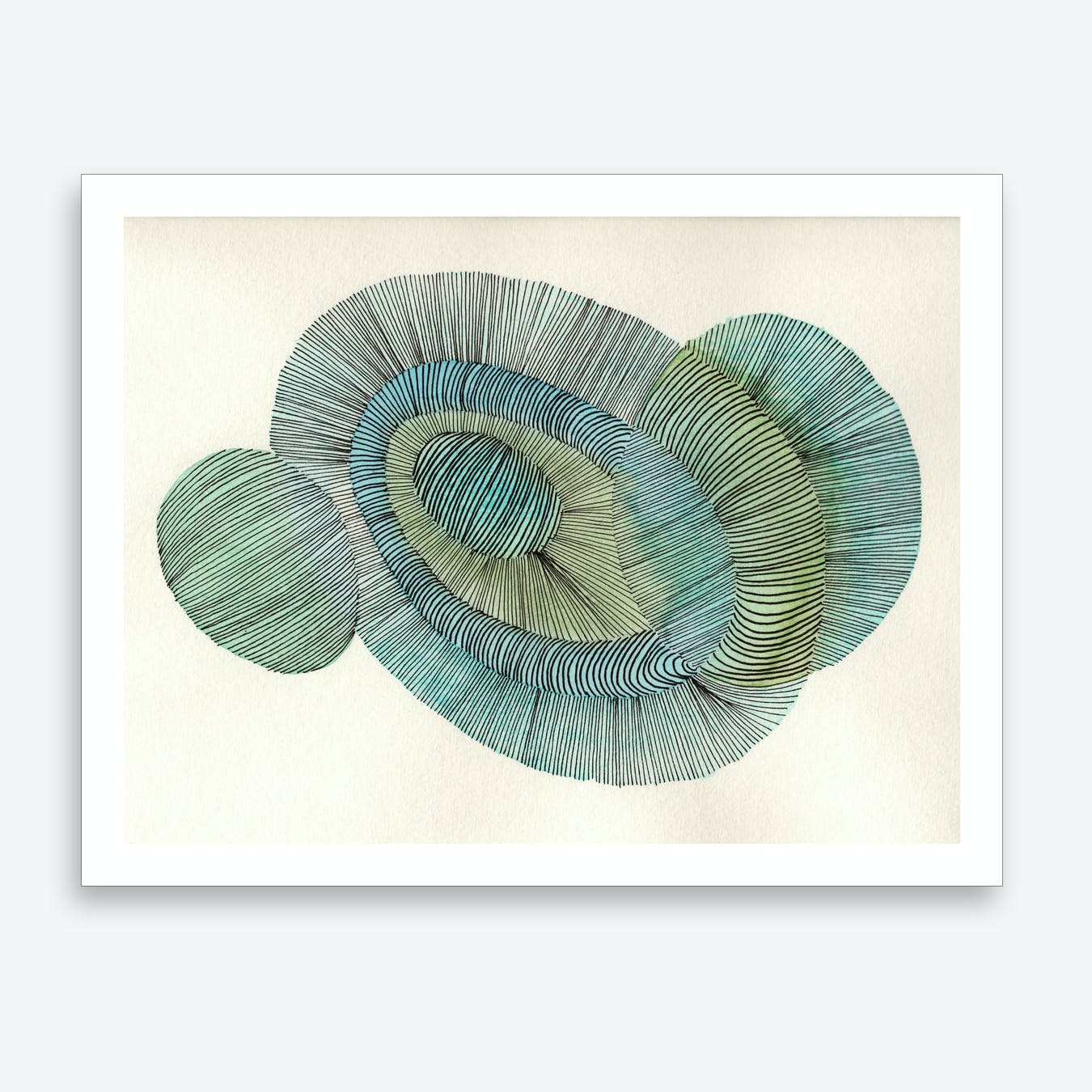 Abstract Line 01 Art Print