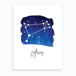 Aries Zodiac Art Print