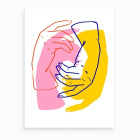 Hands Cdpi Art Print