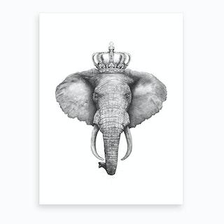 The King Elephant Art Print