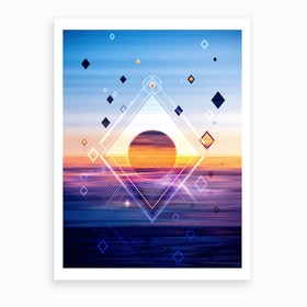 Abstract Geometric Collage II Art Print