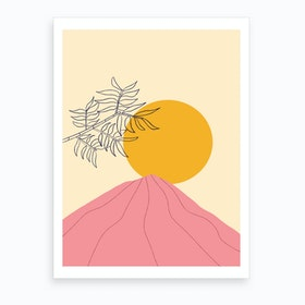 Pink Mountain Art Print