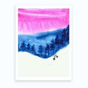 One Cold Night Art Print