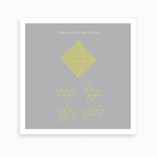Octahedron Yellow 2 Art Print