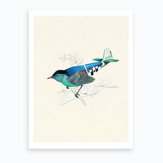 Aerofauna Blue Bird Art Print