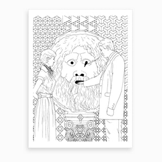 Mouth Of Truth In Rome Art Print