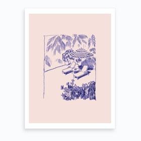 By The Pool Art Print