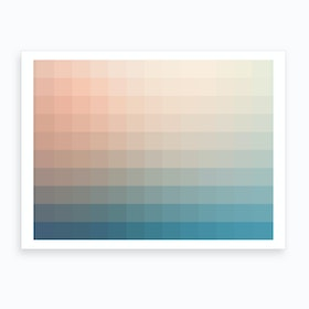Lumen 12, Turquoise and Pink Gradient Art Print