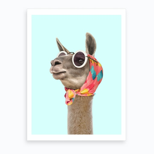 Fashion Lama Art Print