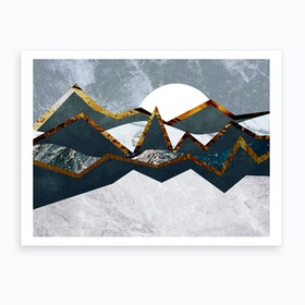 Abstract Alpine Landscape Art Print
