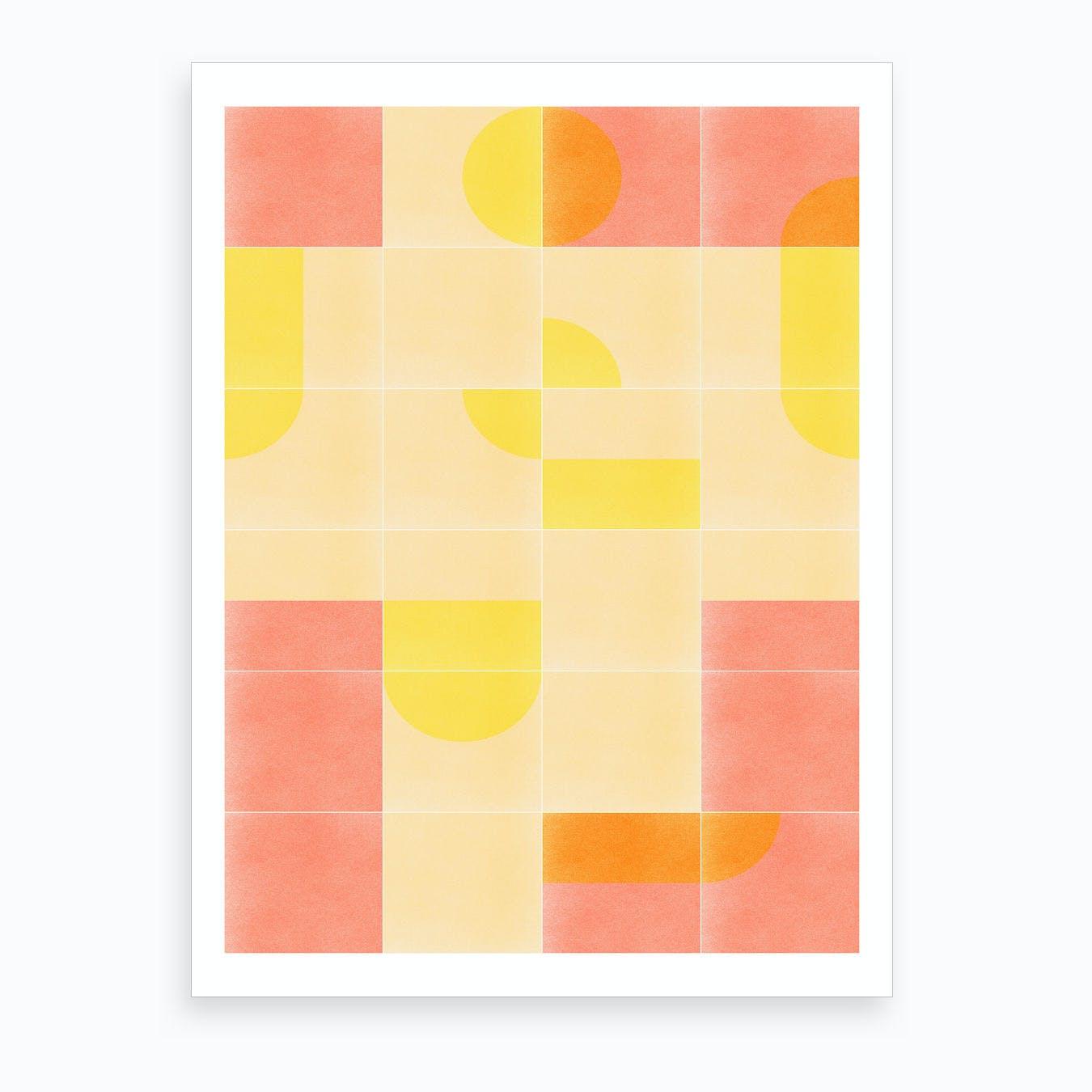 Retro Tiles 01 Art Print