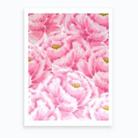 Pink Peonies Art Print