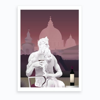 Stone Guest Zeus Art Print
