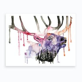 Hirsch Art Print