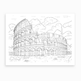 Colosseum In Rome Art Print