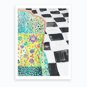 Disco Chair Art Print
