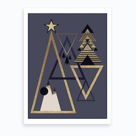 Xmas Abstract II Art Print