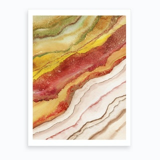 Agate Inspired Watercolor Abstract 3 Art Print