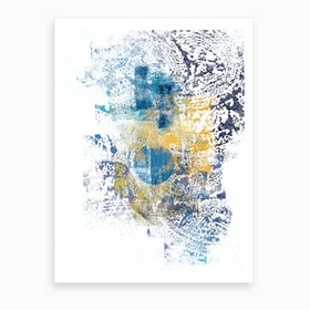 Wild Eclipse   Abstract Painting I Art Print