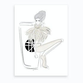 Haute Couture Coffee Art Print