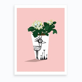 Flowers In A Pot Art Print