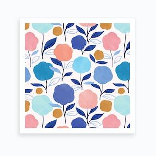 Lollipop Flowers Art Print