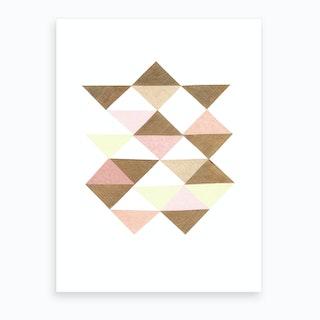Triangles Blush Art Print