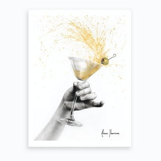 Shaken Martini Art Print