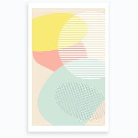 Lost In Shapes Iii Art Print