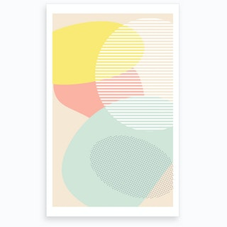 Lost In Shapes Iii Art Print