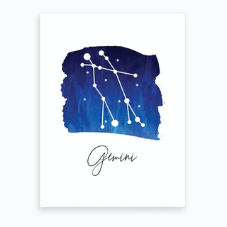 Gemini Zodiac Art Print