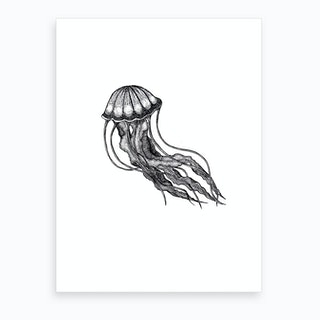 Little Jellyfish Art Print