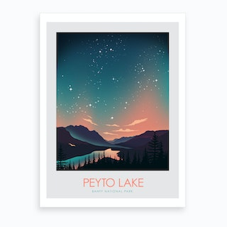 Peyto Lake Banff Art Print