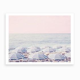 Pink Riviera Art Print