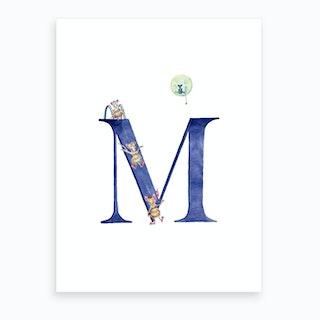 M Mice On The Moon  Art Print