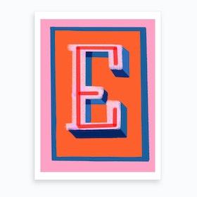 E Art Print