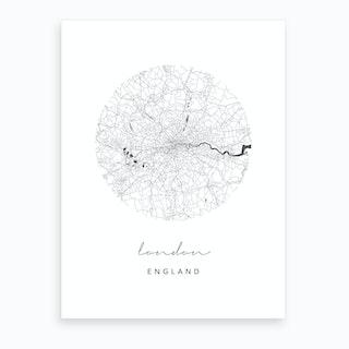 London England Circle Map Art Print