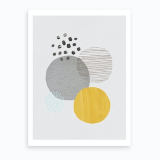 Abstract Mustard And Concrete Art Print