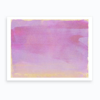 Minimal Abstract Lilac Colorfield Painting 1 Art Print