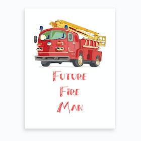 Fire Truck 2 Art Print