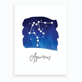 Aquarius Zodiac Art Print