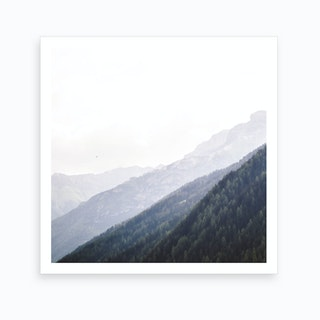 Alp Valley Square Art Print
