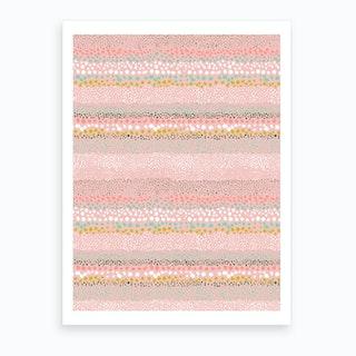 Little Textured Minimal Dots Pink Art Print