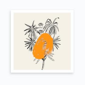 Tropical Tree Orange Art Print