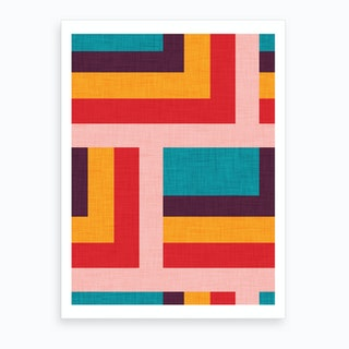 Abstract Mod Cubes M Art Print