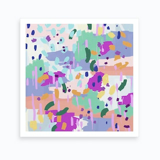 Oil Abstract I Square Art Print
