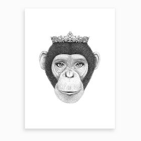 Monkey Queen  Art Print