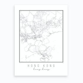 Hong Kong Hong Kong Street Map Art Print